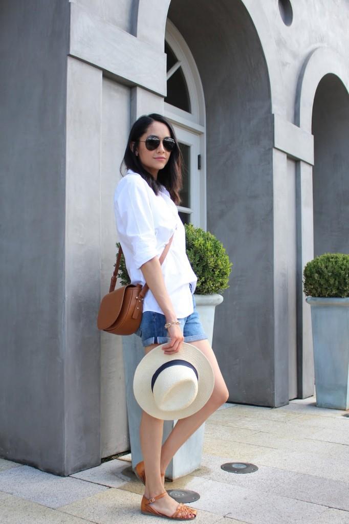 Easy Weekend look white shirt