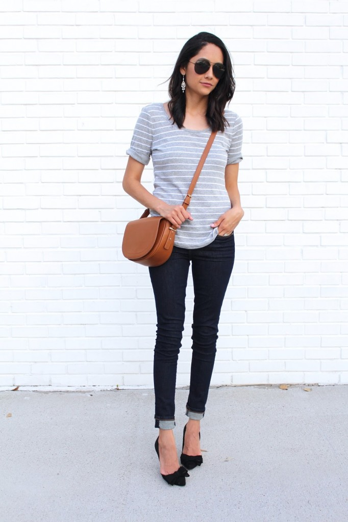 styling a striped t-shirt