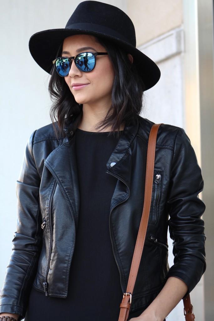 Leather Jacket & Wool Fedora