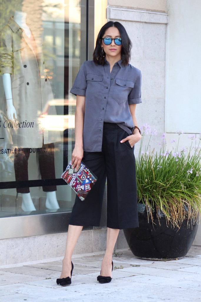 How to wear the culottes trend in the fall