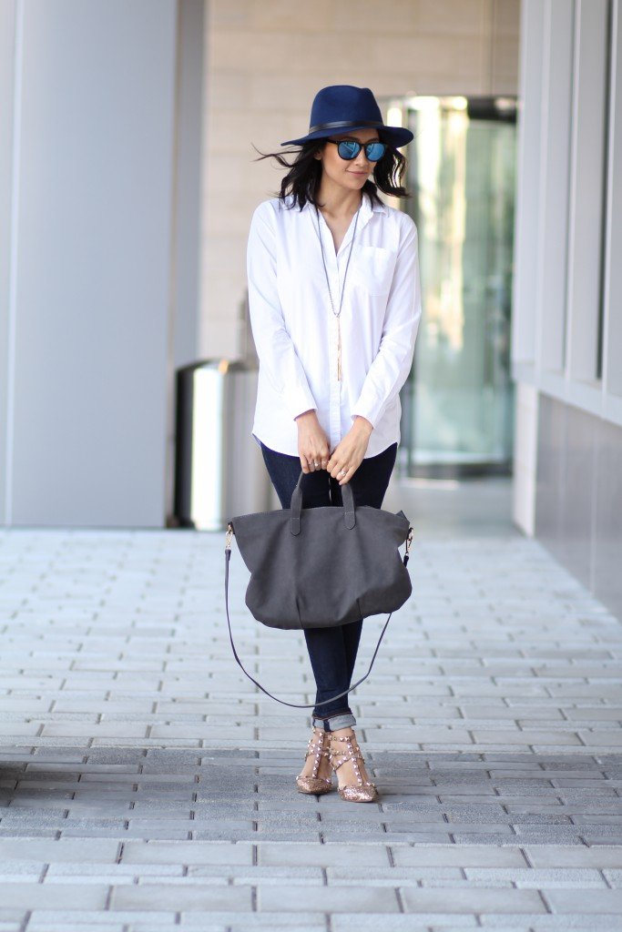 chic outfit with pieces already in your closet.