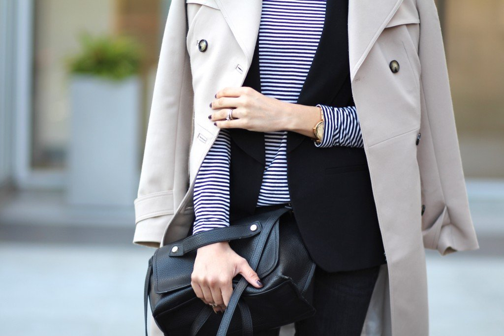 Fall layering with a trench coat and vest