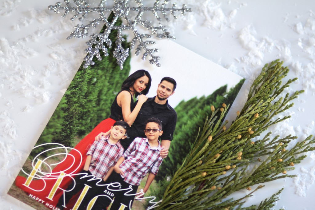 Family holiday cards with Minted