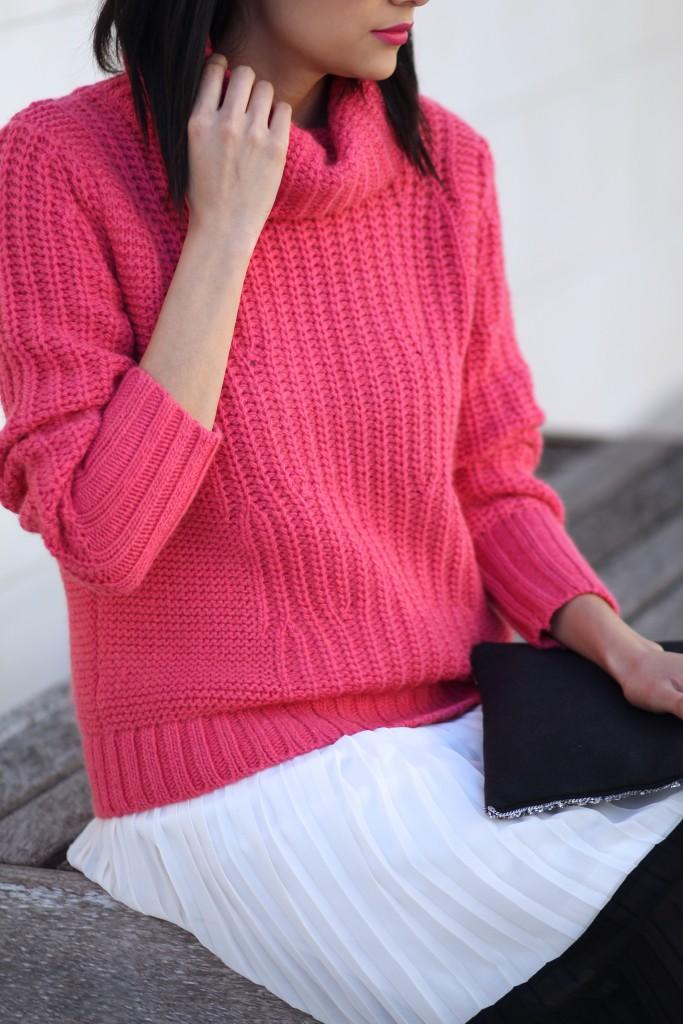 Banana Republic pink turtleneck sweater