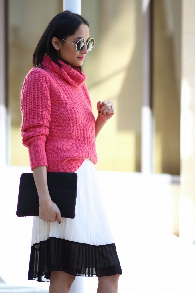 casual chic turtleneck outfit