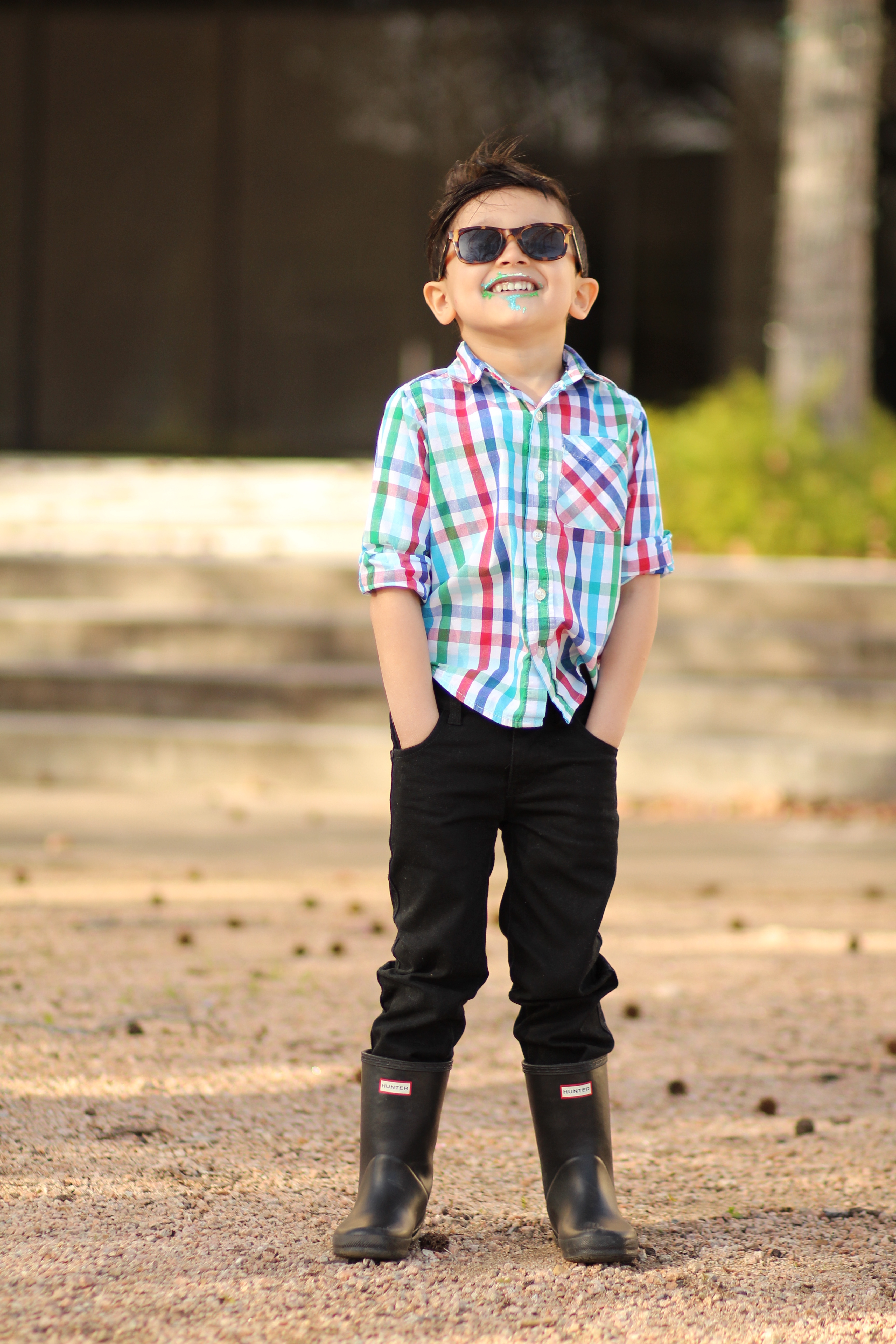 how to style hunter boots for little boys
