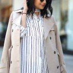 How to wear a pinstripe dress