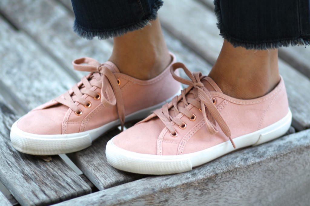 pink sneakers for spring
