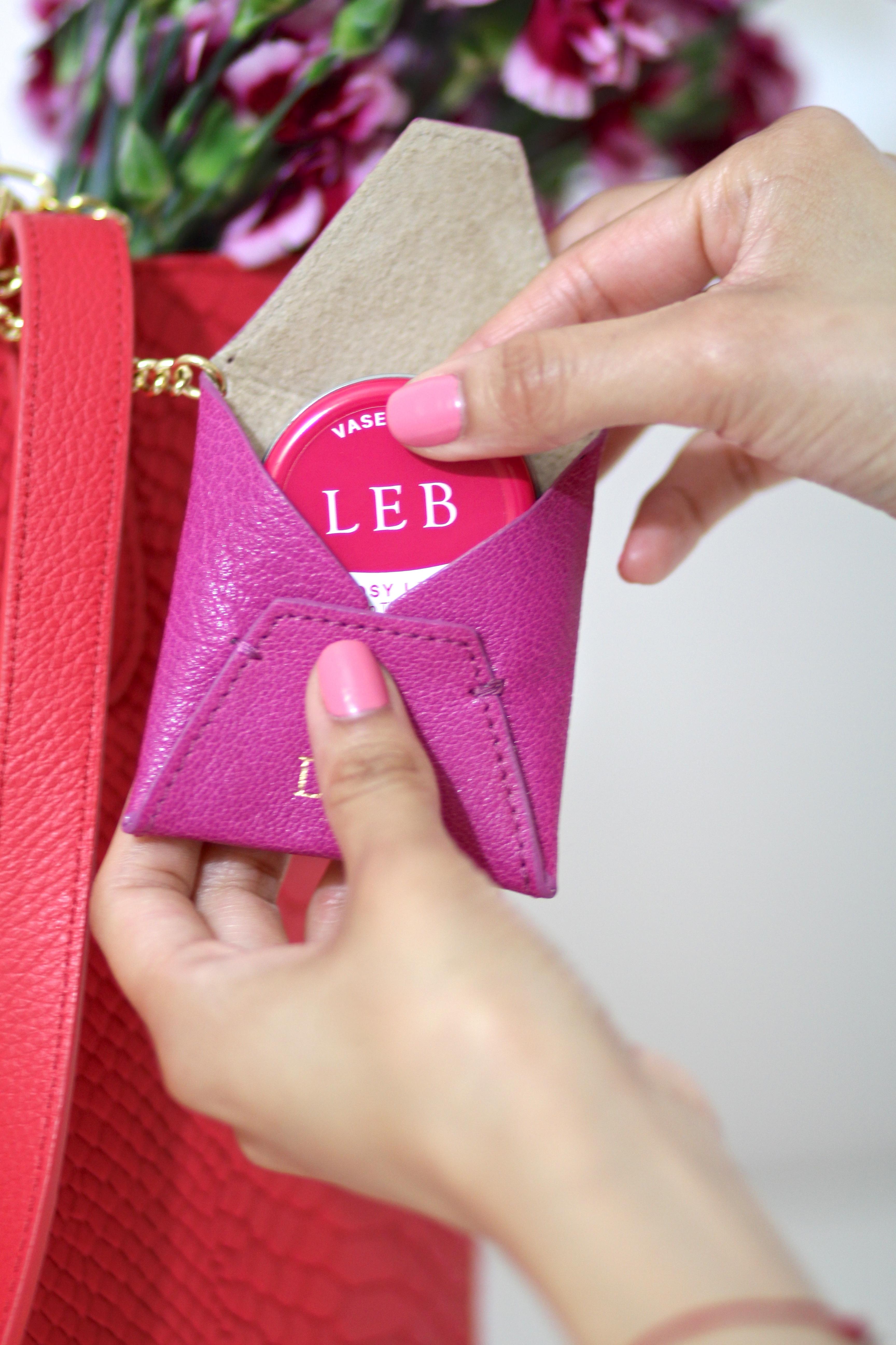 Vaseline x GiGi New York leather pouch