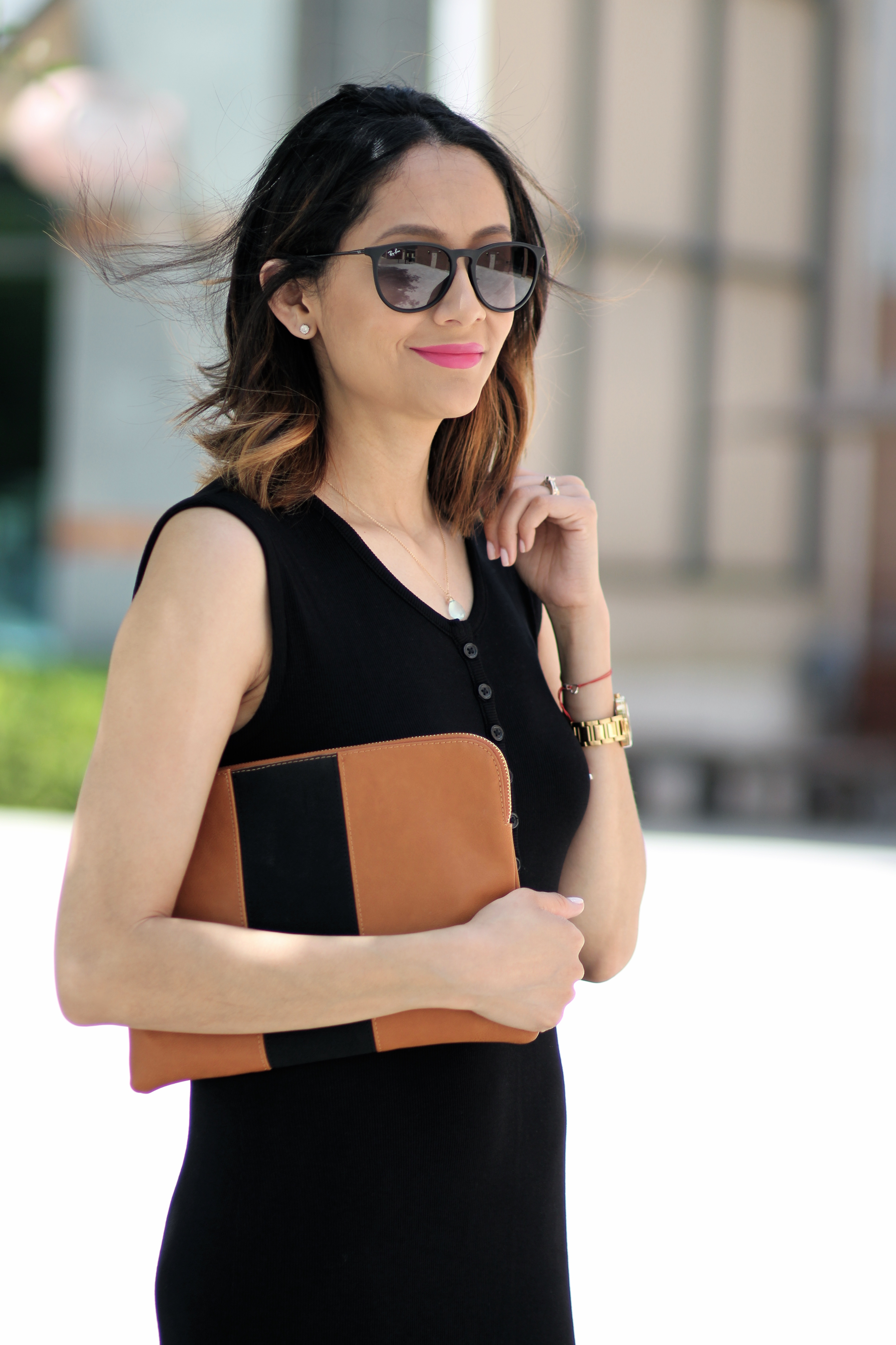 who what wear color blocked clutch