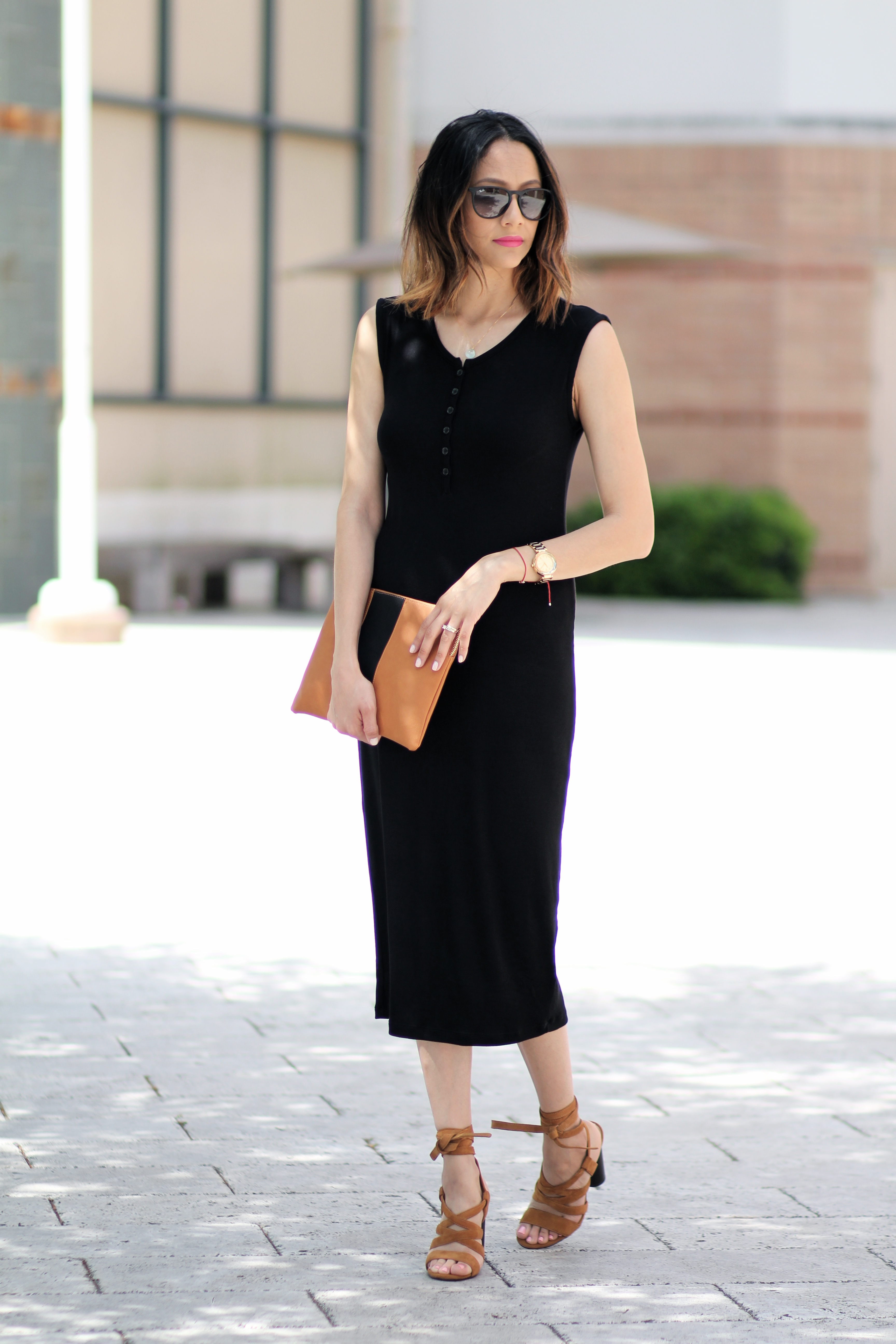 how to dress up a henley midi dress for a day date