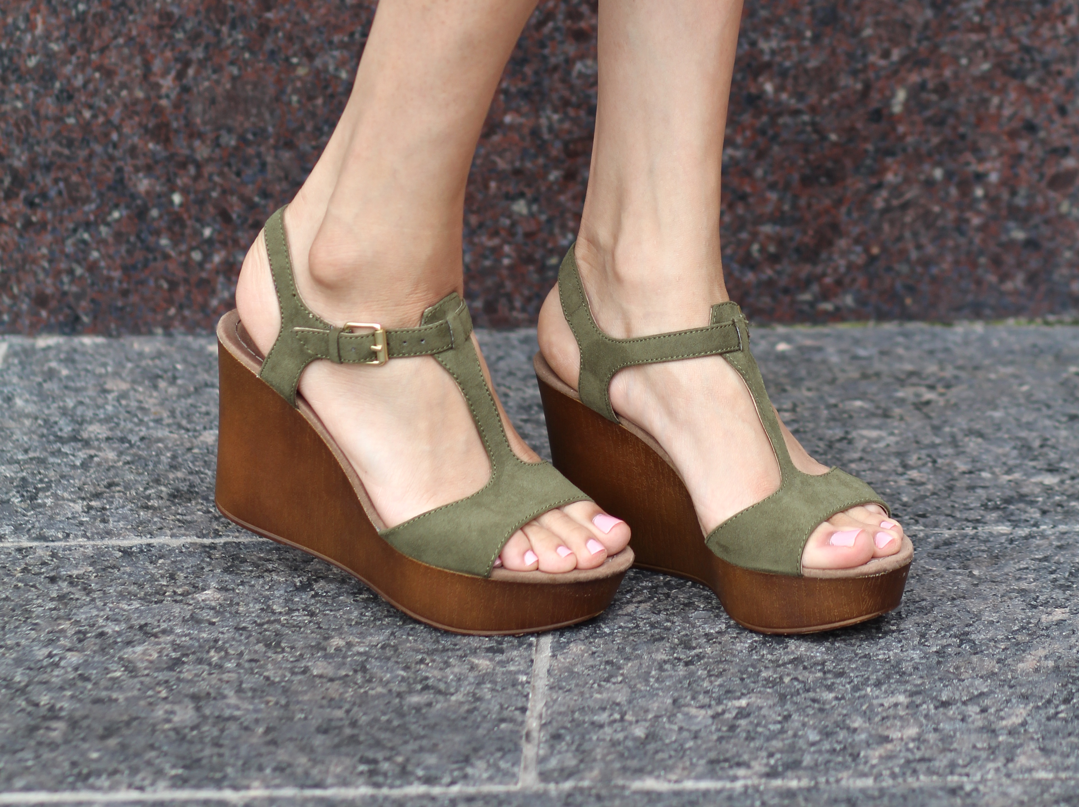 70's style platform wedges