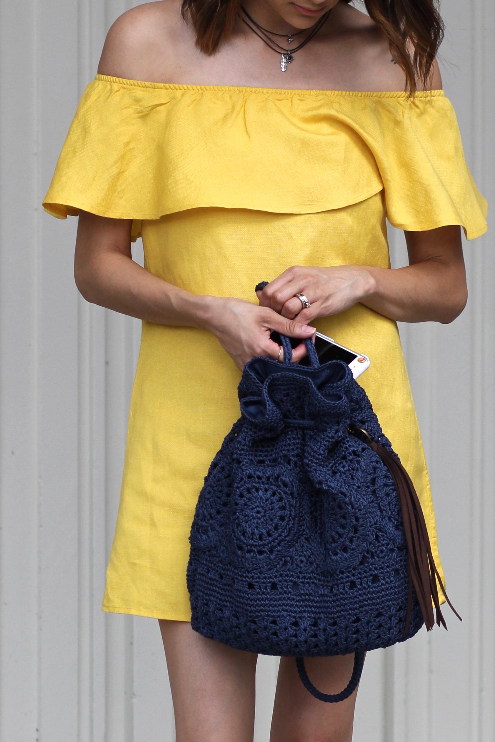 Sayulita crocheted backpack