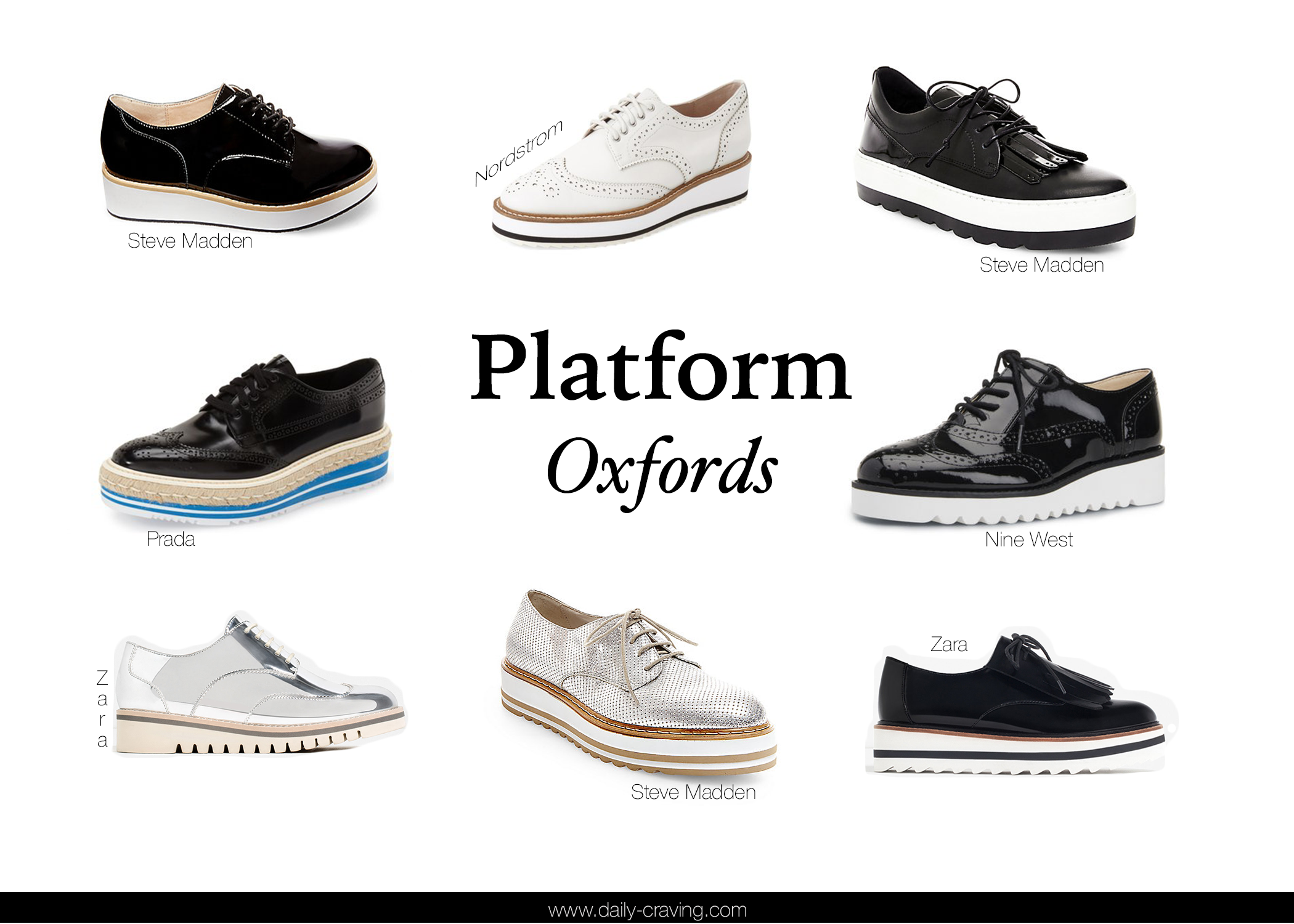 Platfrom Oxfords | Oxford Trend