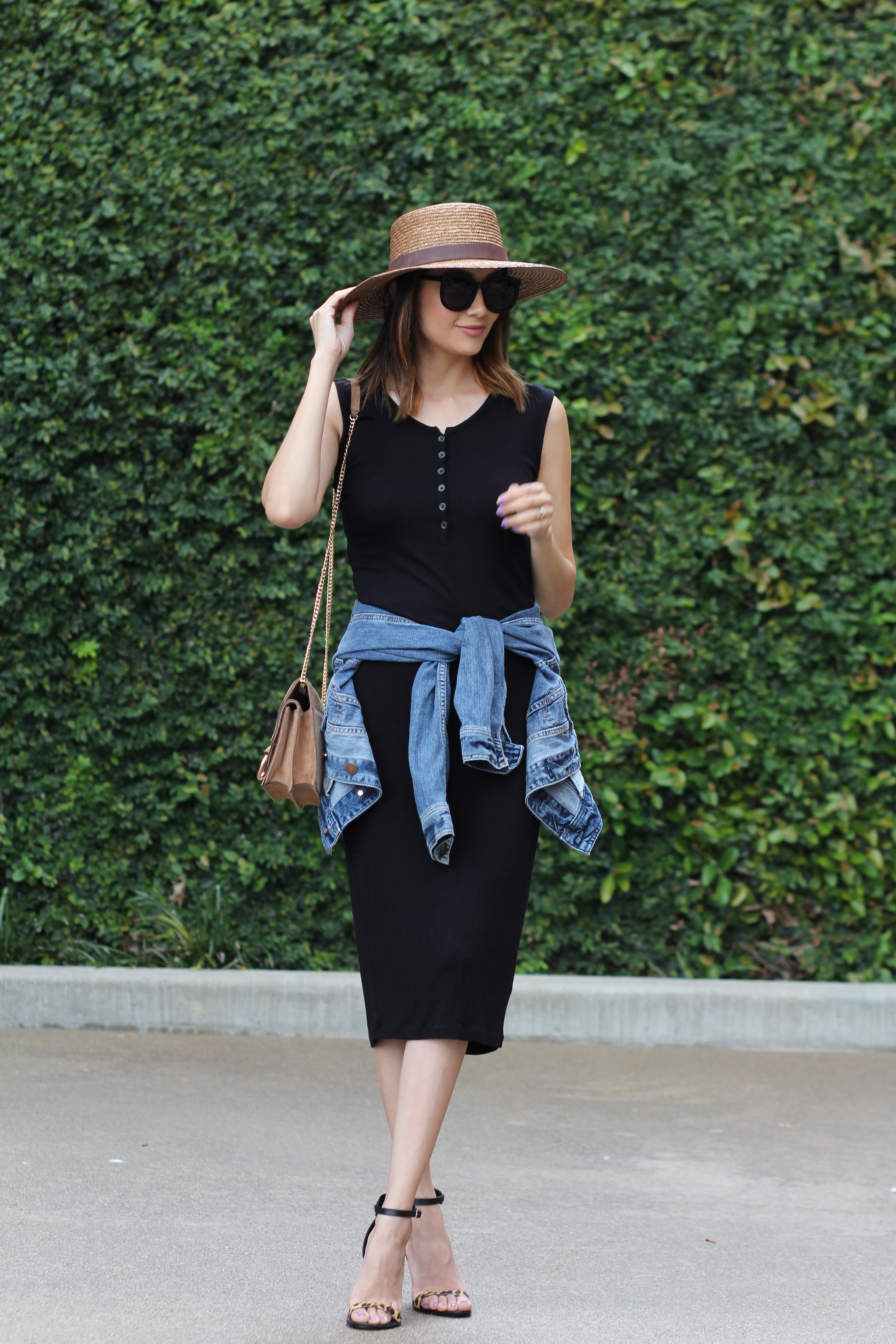 Summer Chic | Little Black Dress | Boater Hat