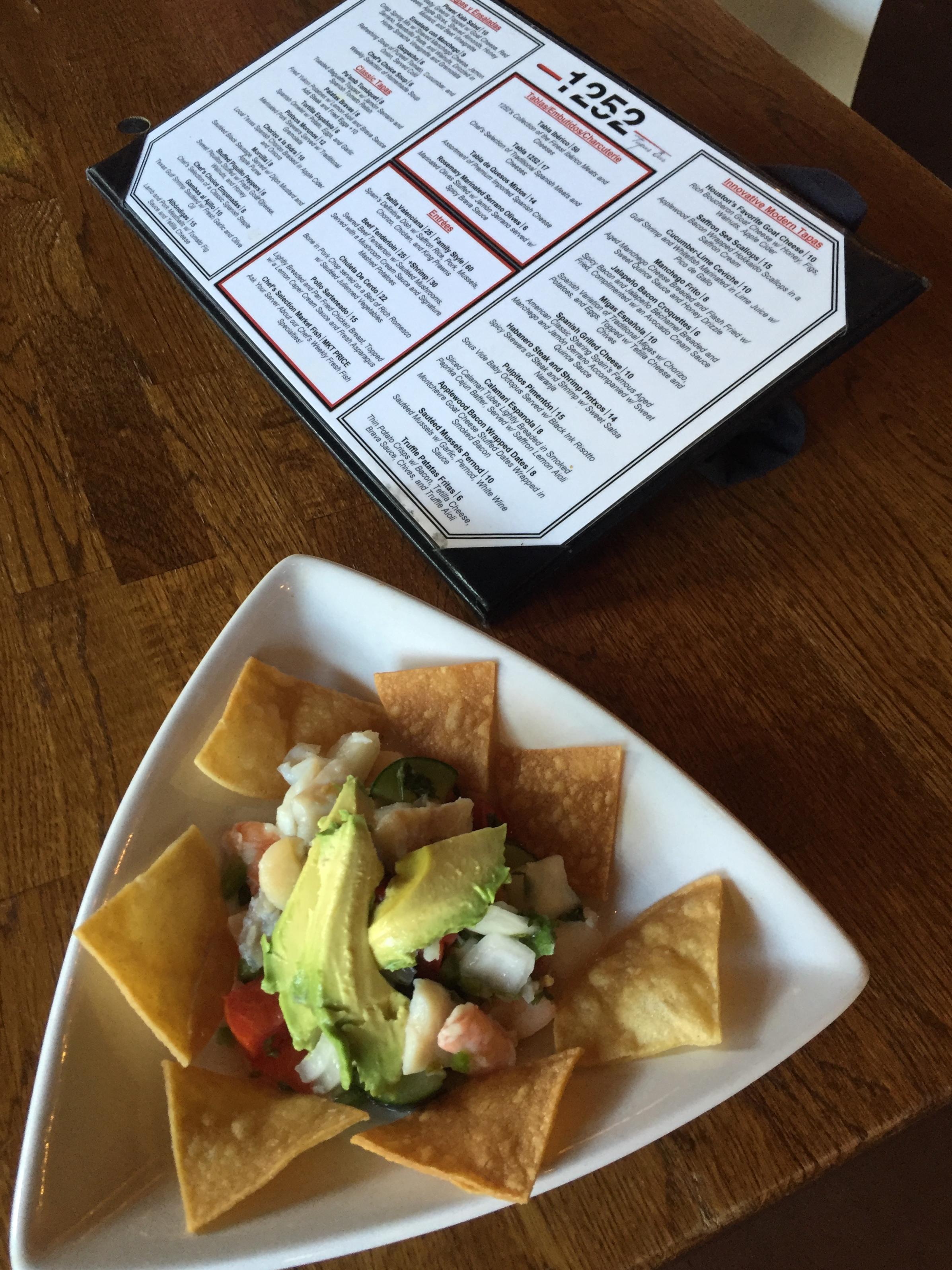 lunch at 1252 Tapas Bar
