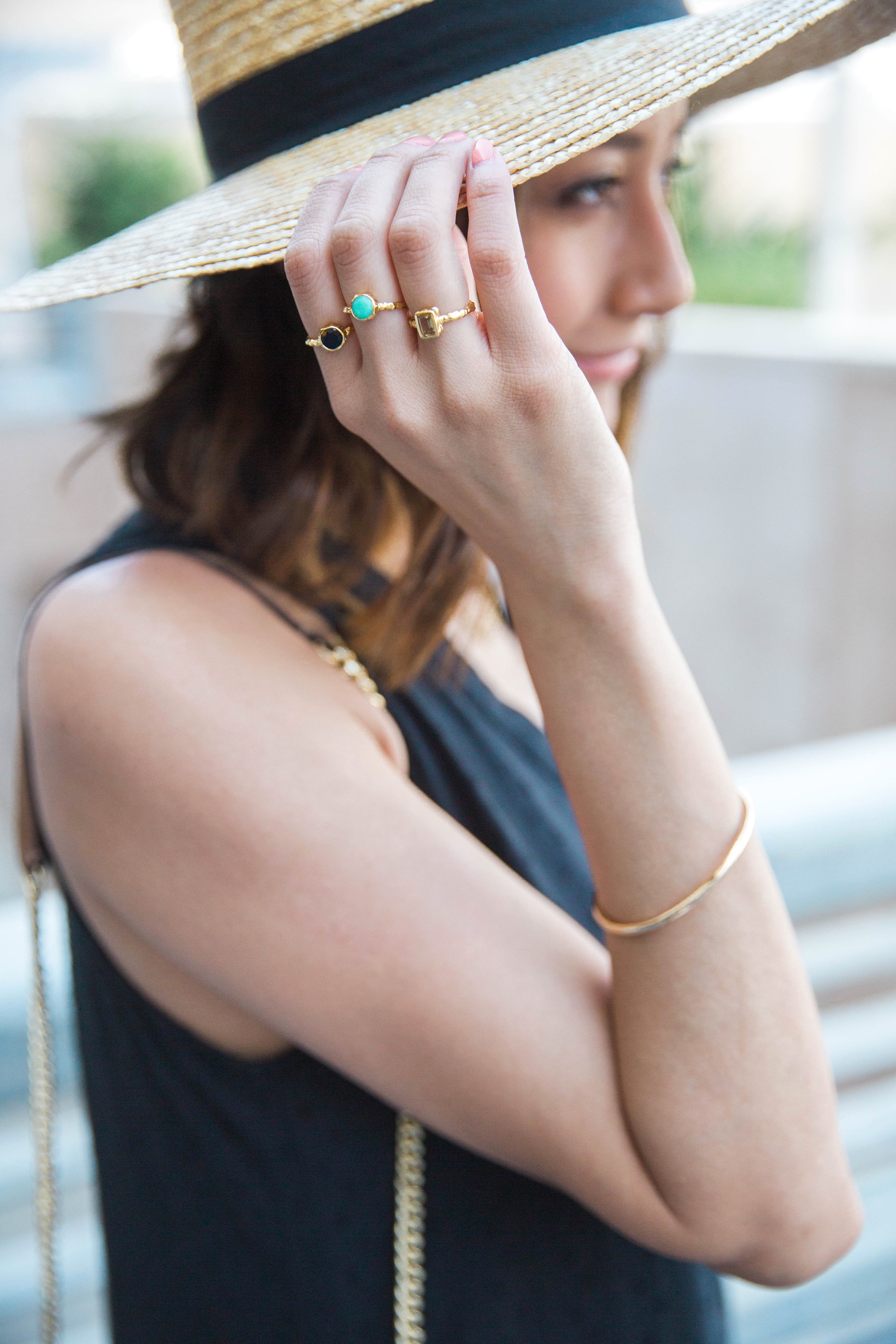 How to accessorize a minimal look with dainty rings