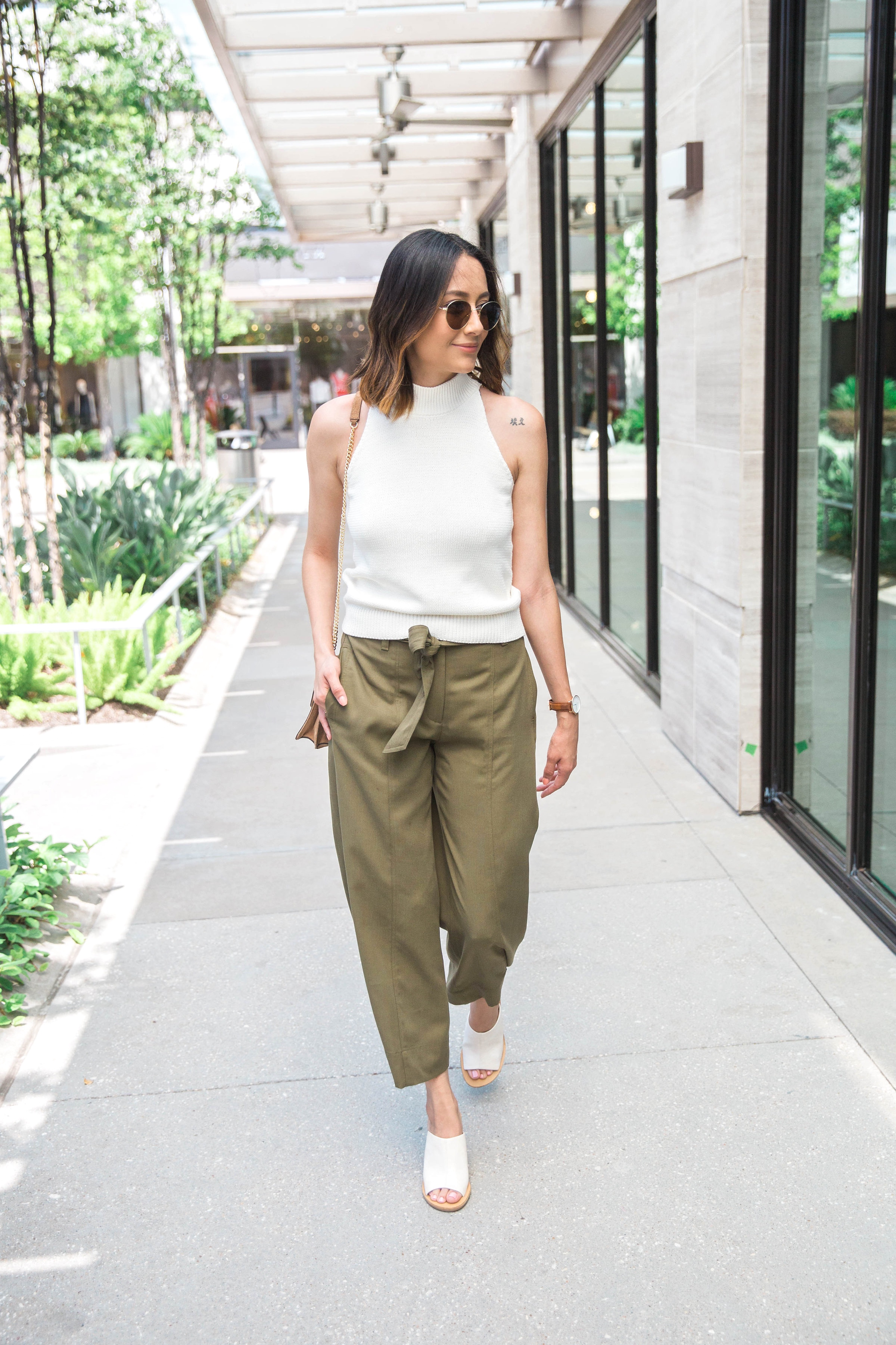 Easy Transitional Separates | Culottes | Sweater Top | Slip-On Wedge Sandals