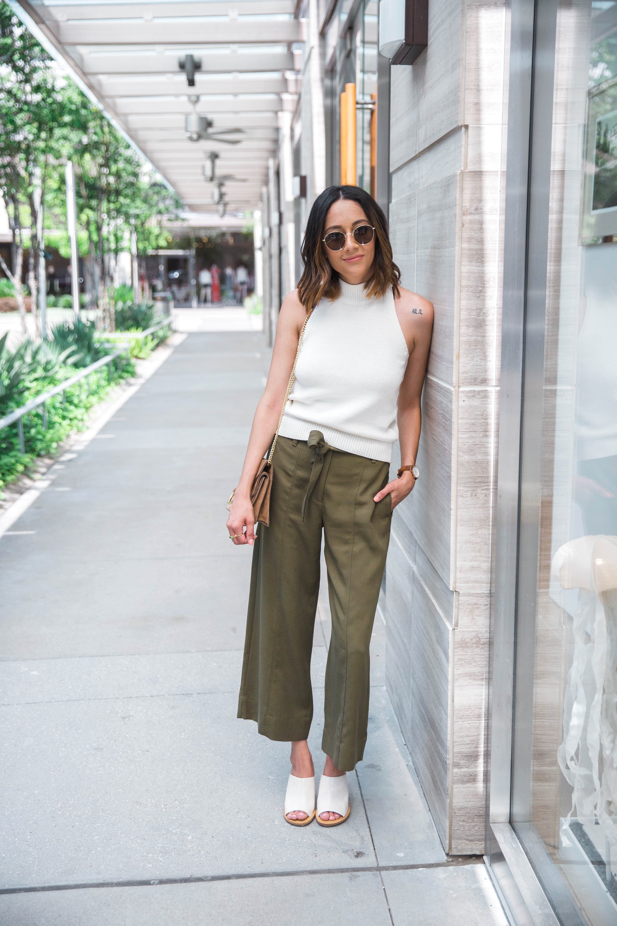 Transitional Separates | Culottes | Sweater Top | Wedge Sandals