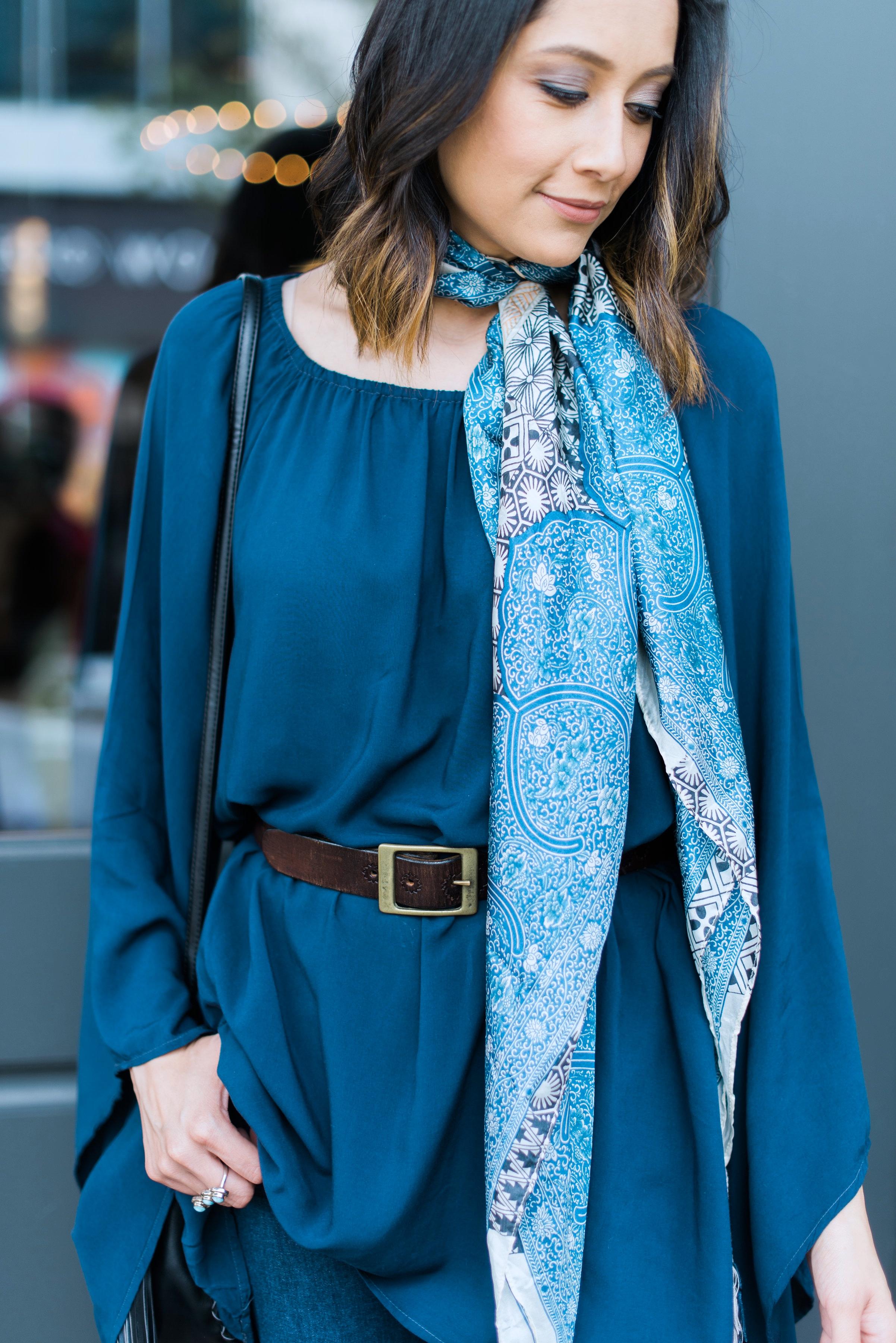 Boho tunic dress & Scarve