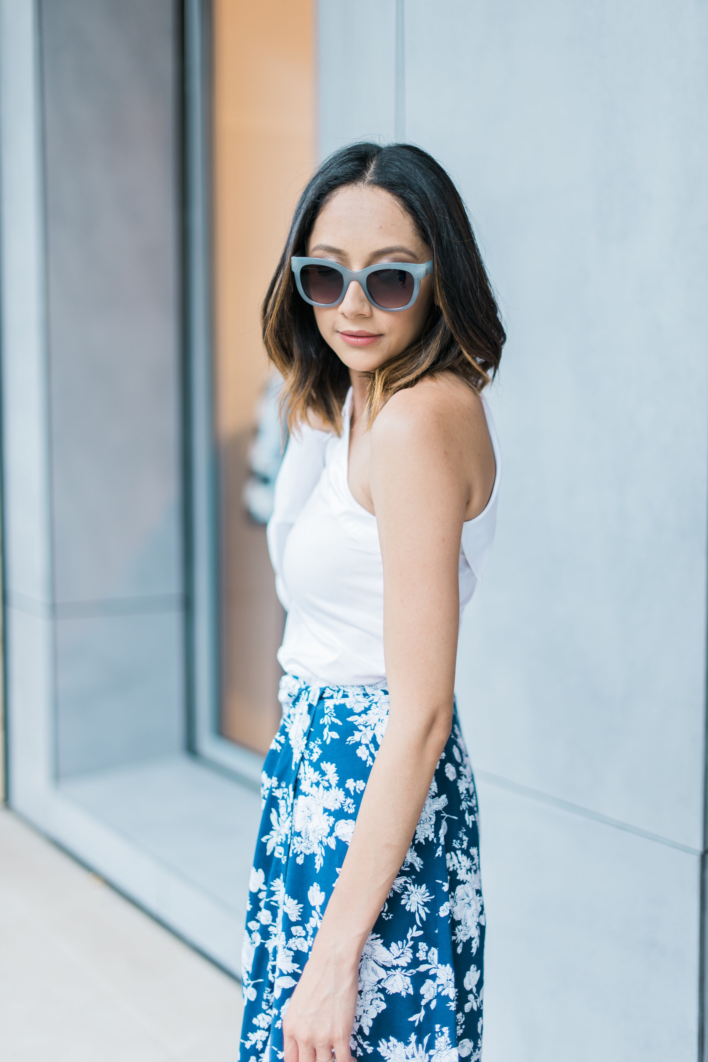 wrap skirt summer look