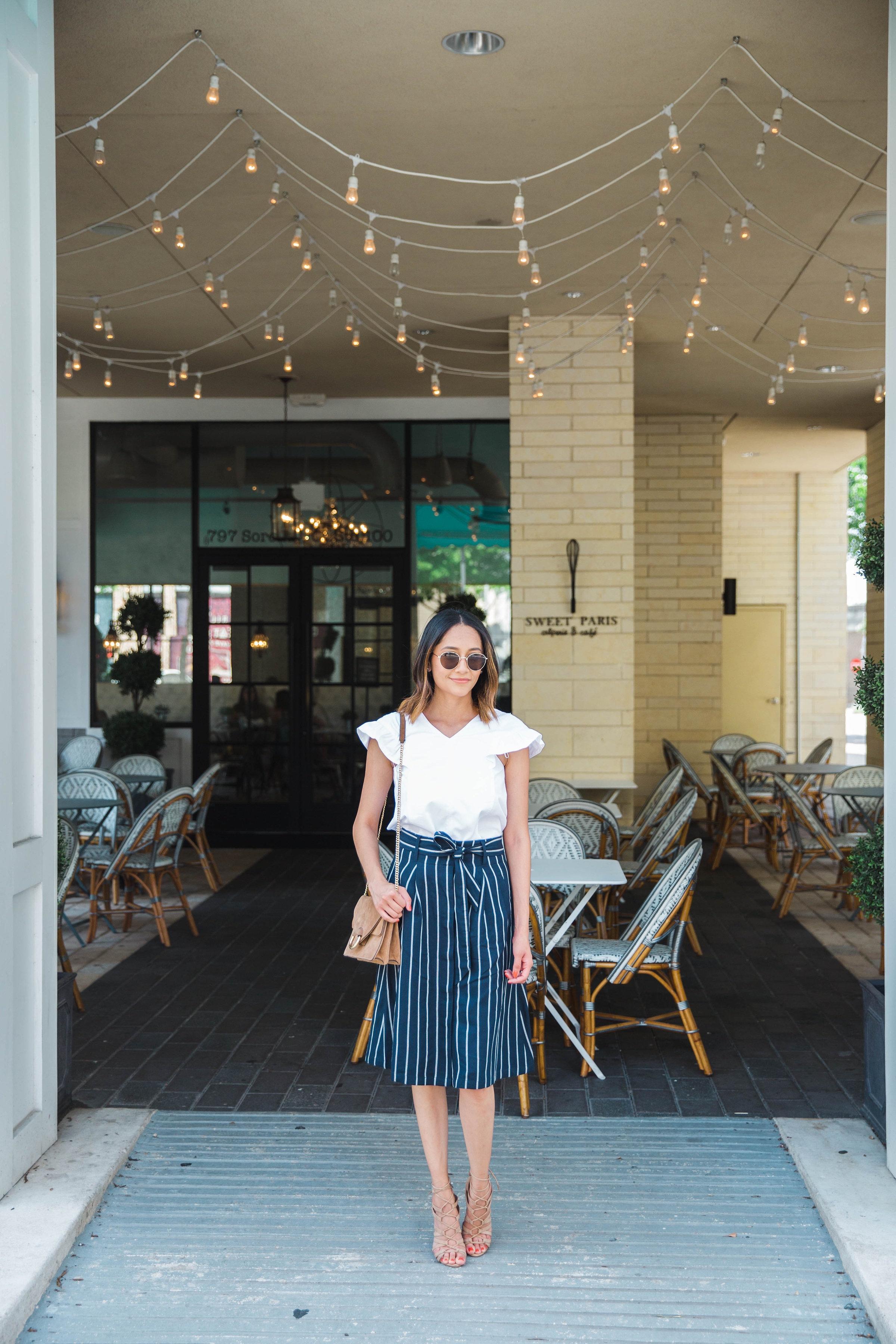 Ruffle Sleeves | A Line Skirt | Summer Look | Date Night Look