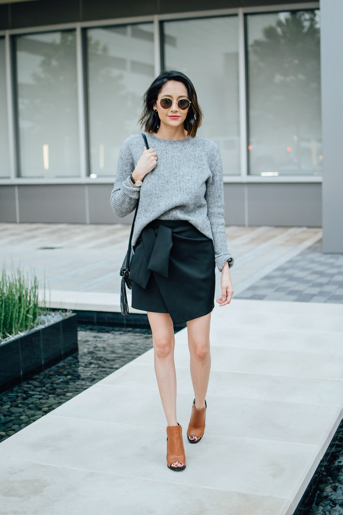 Fall leather booties