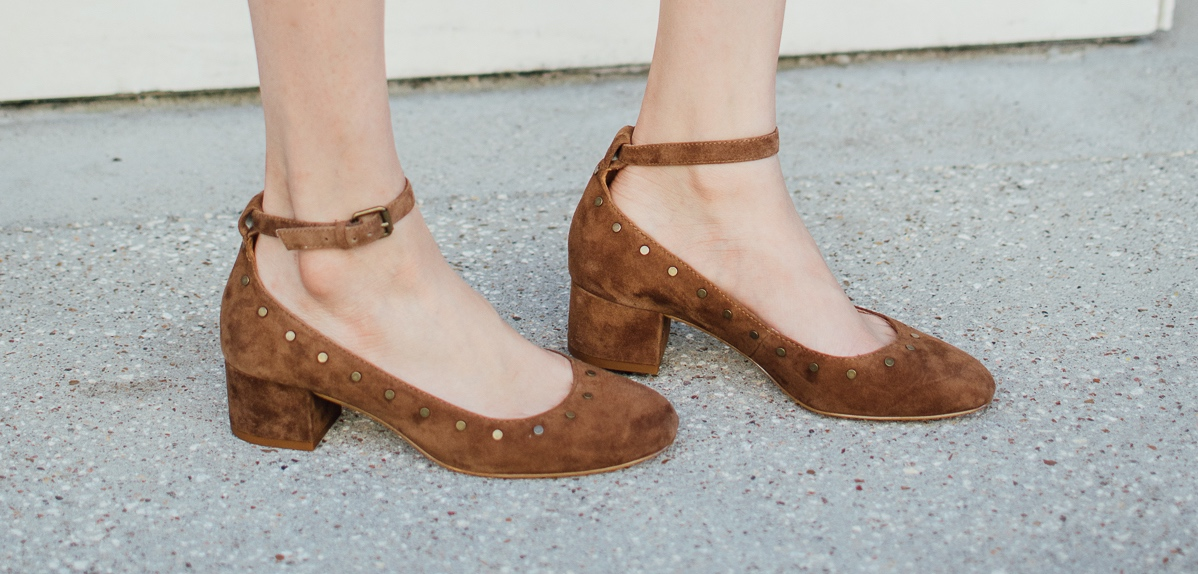 suede ankle strap shoes