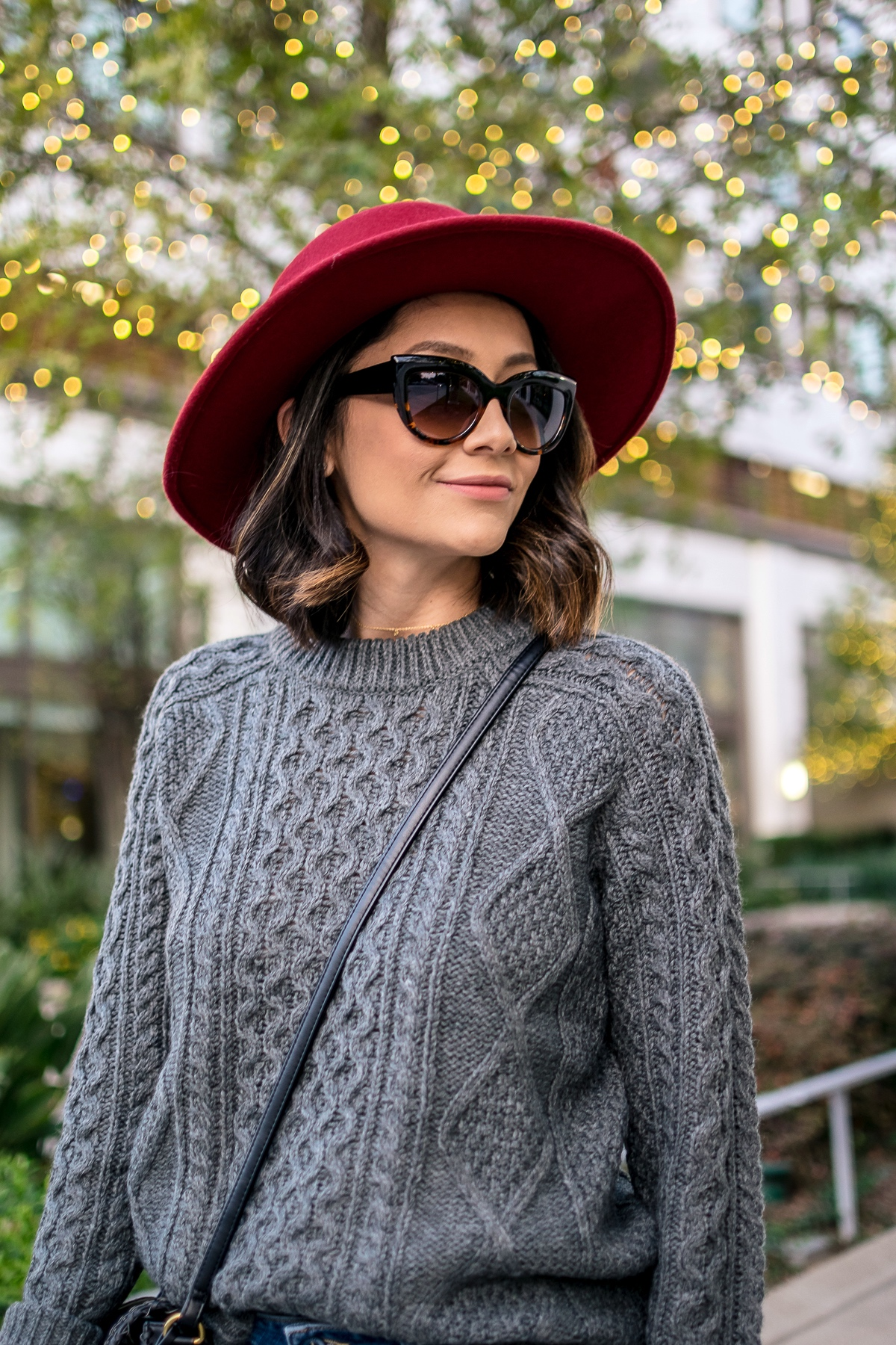 Lilly Beltran of Daily Craving wearing a casual Thanksgiving look