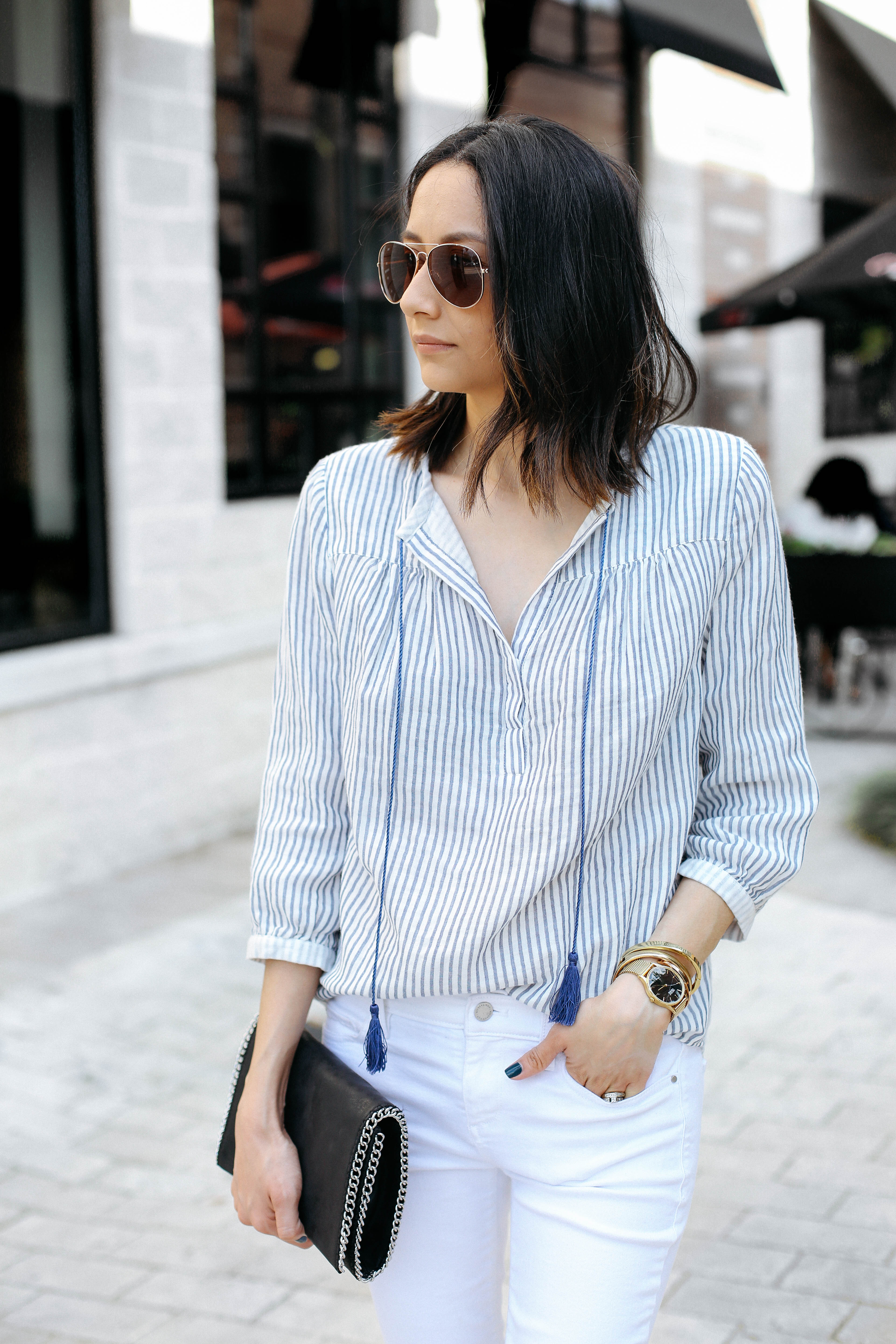 Casual chic in Margaret O'Leary