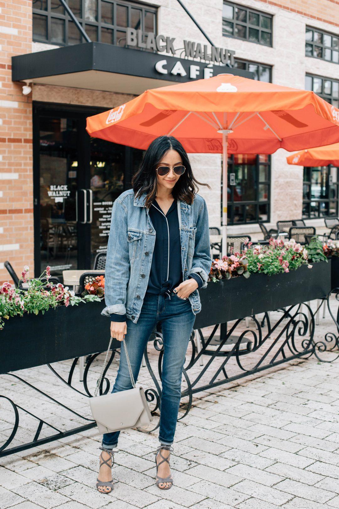 How o wear an oversized jean jacket