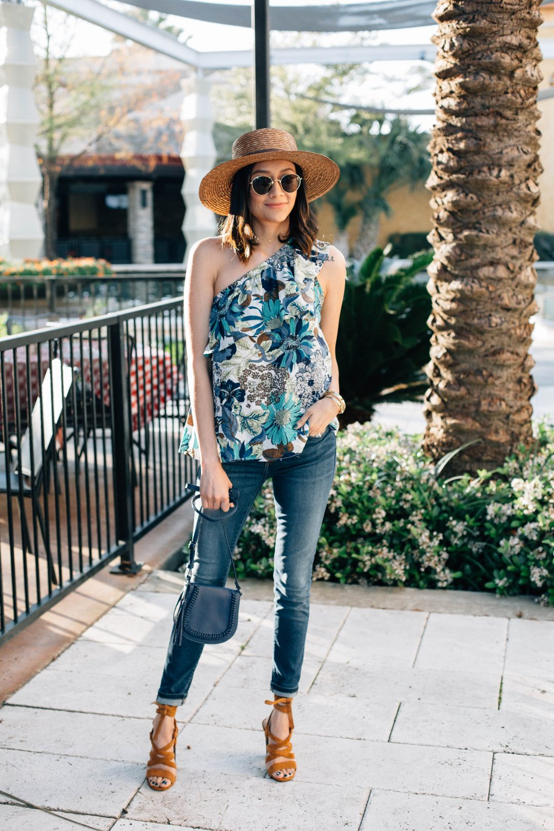 The perfect one shoulder top for spring
