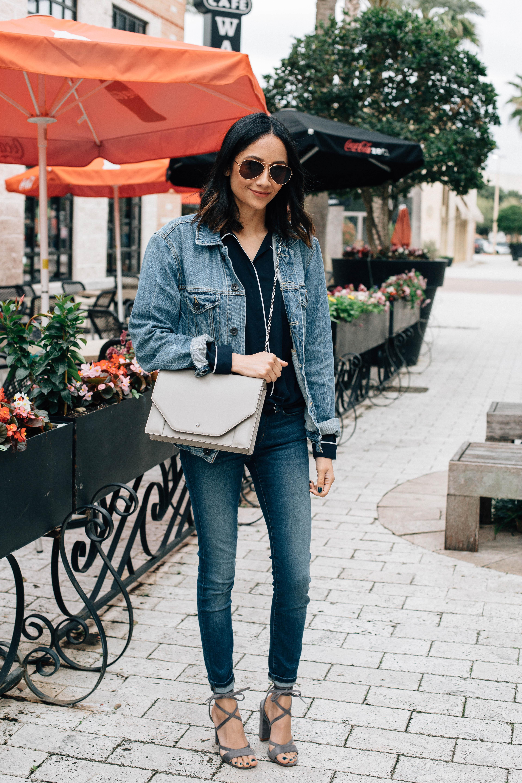 oversized jean jacket look