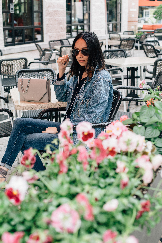 How to wear an oversized jean jacket