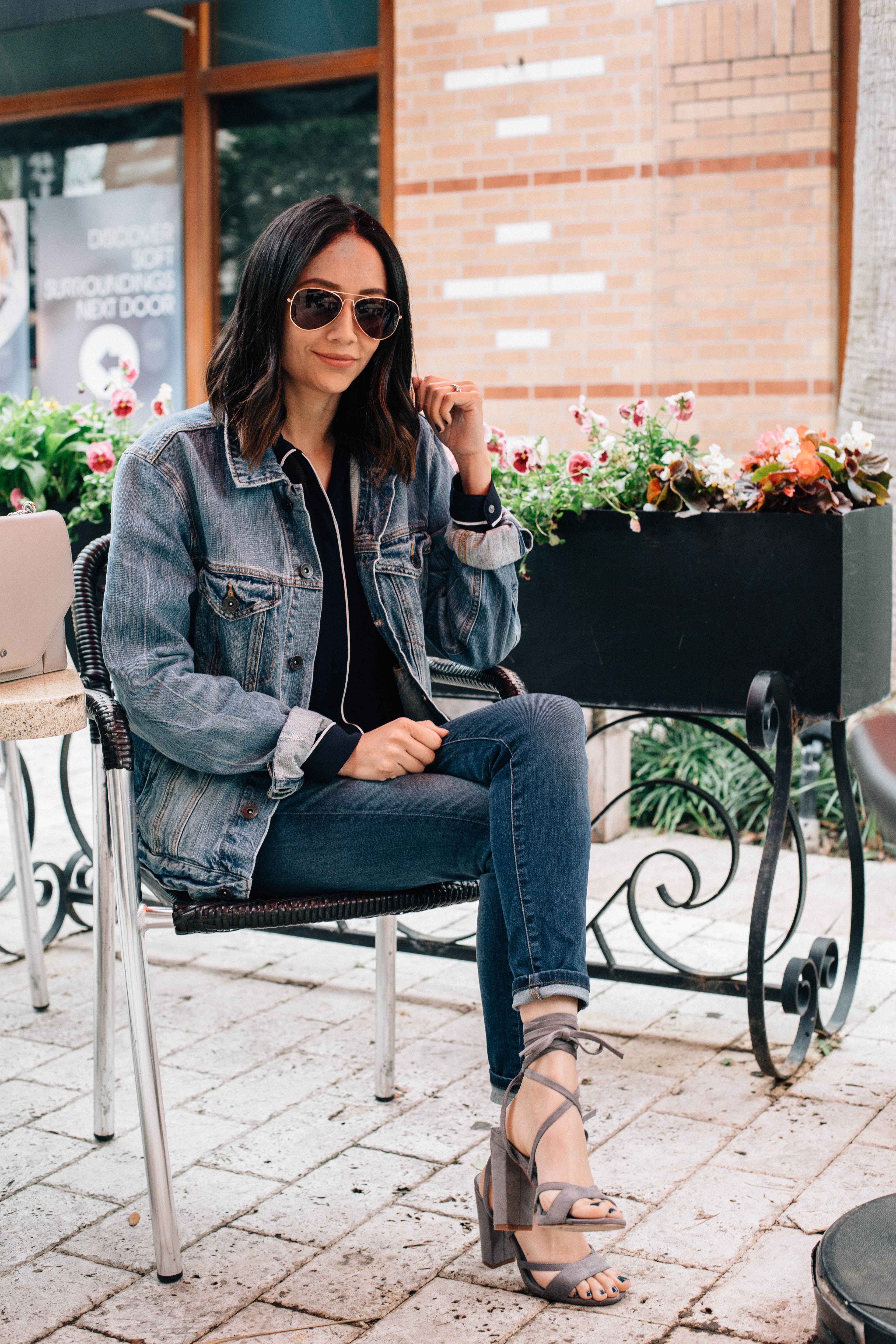 oversized jean jacket outfit