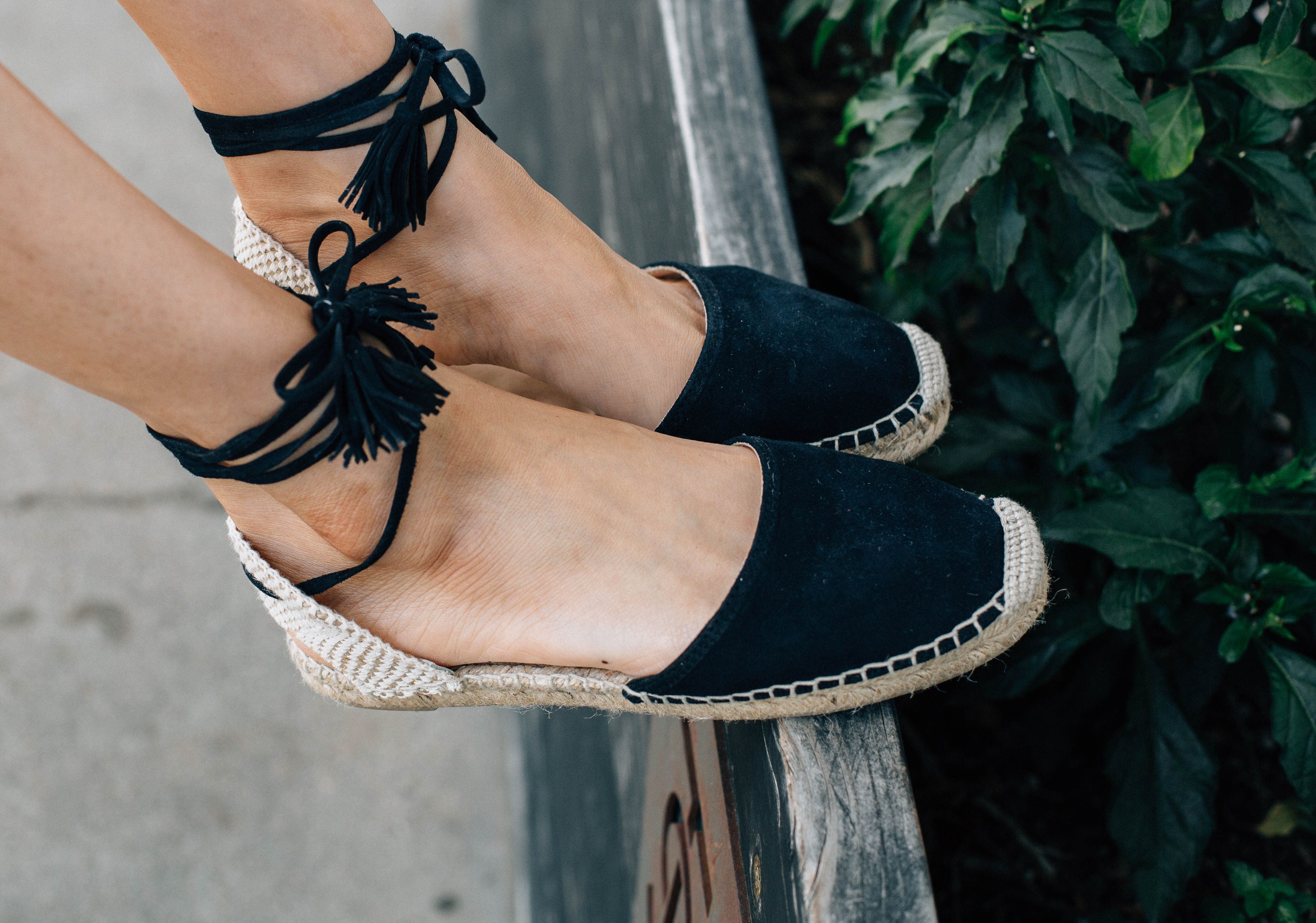 Lace-up flat espadrilles