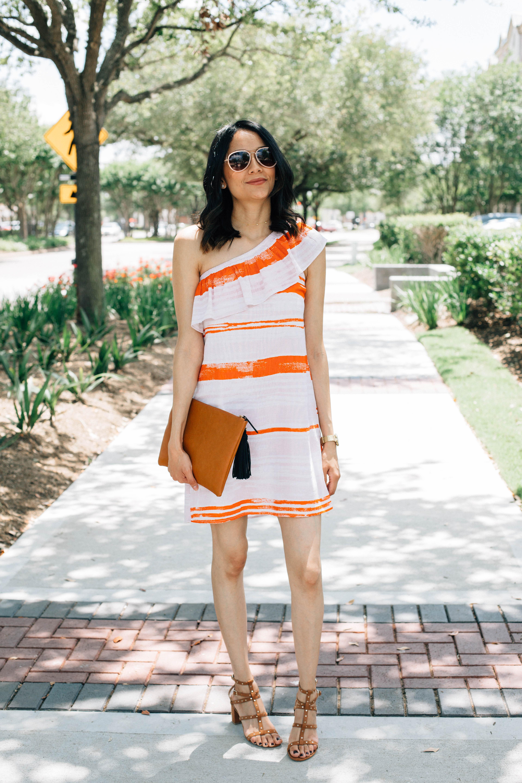 One shoulder Dress | Studded Sandals | Valentino Dupes