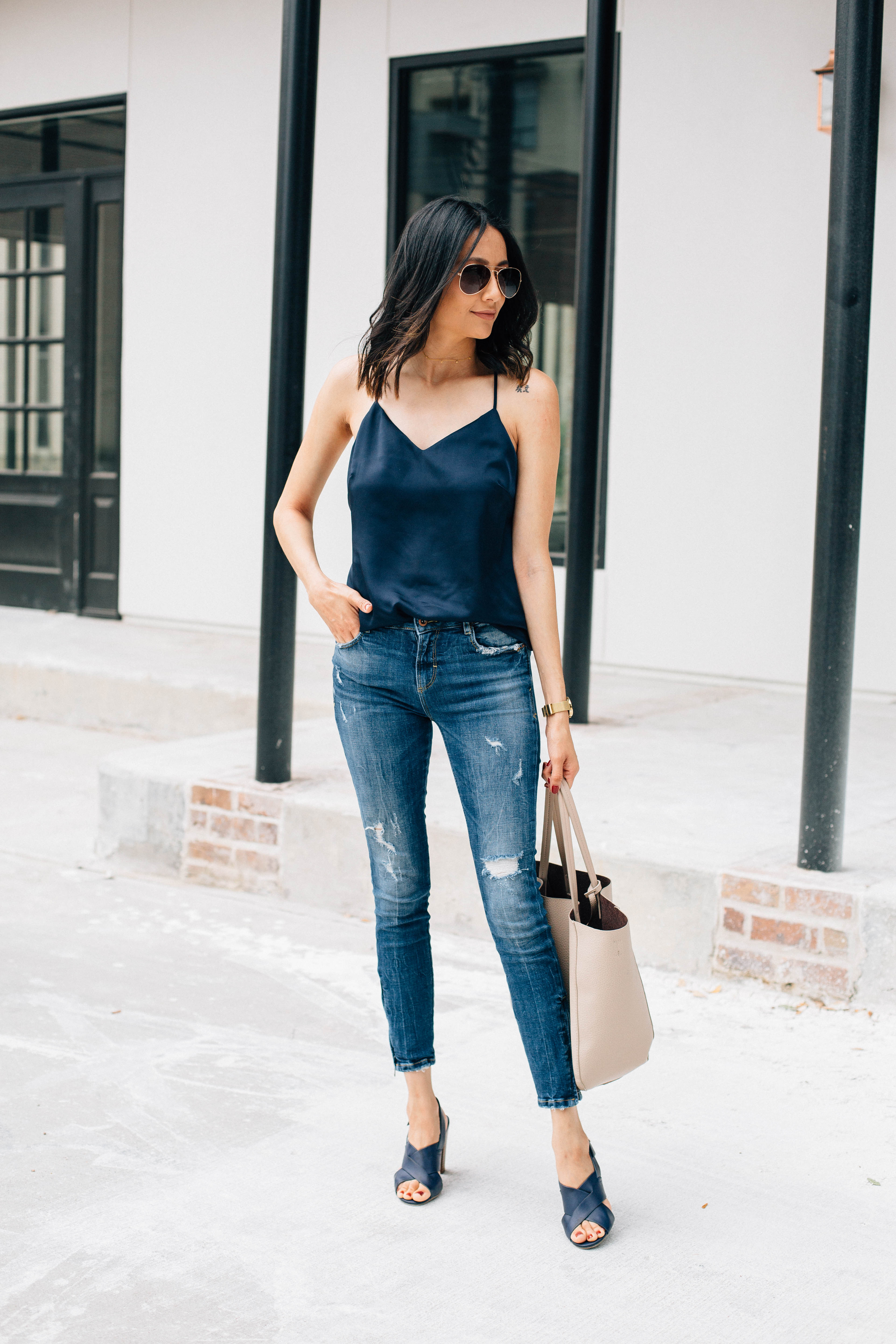 Where to find great fitting denim for a slim frame