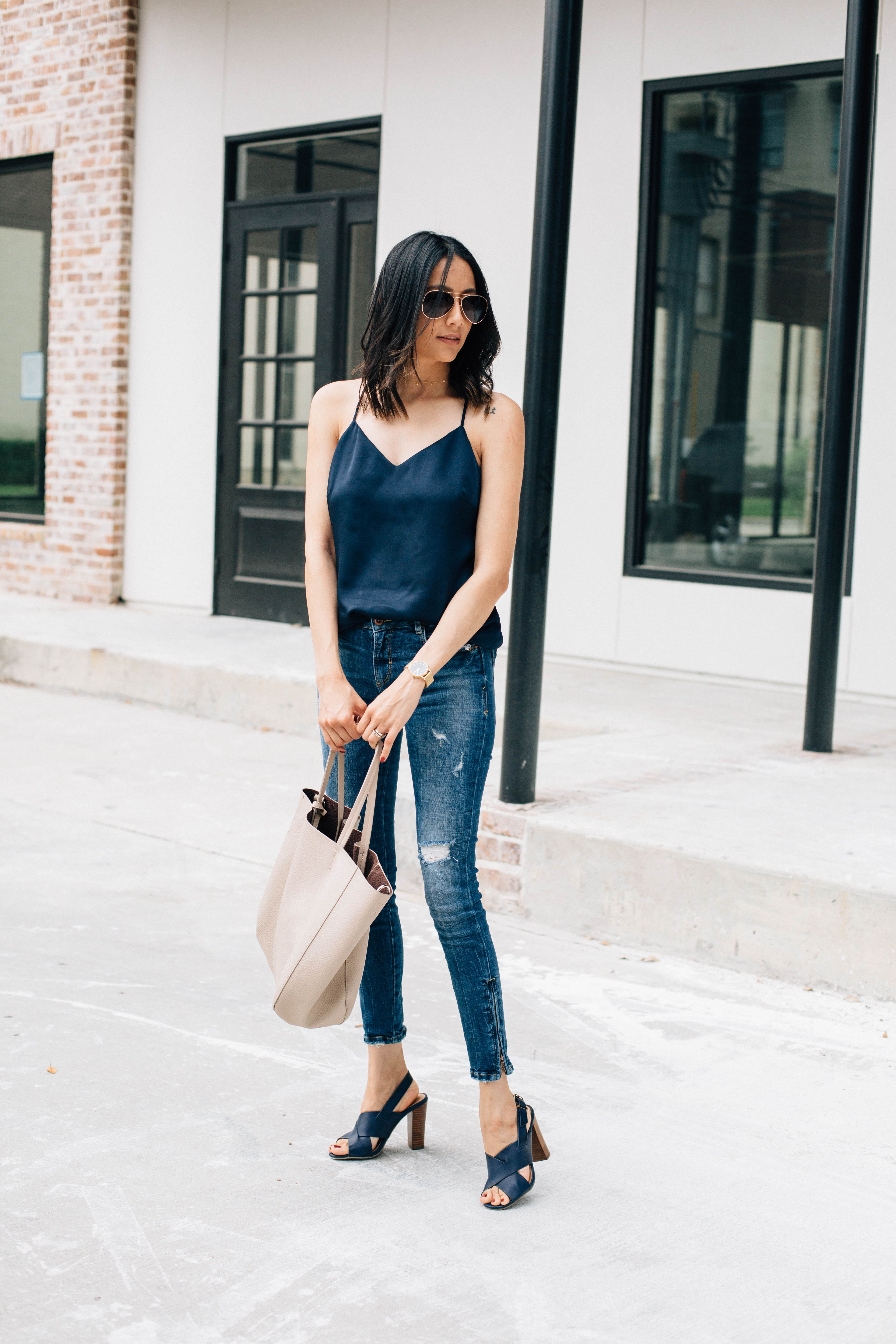 Where to fond great fitting denim | Silk Camisole | Effortless Style