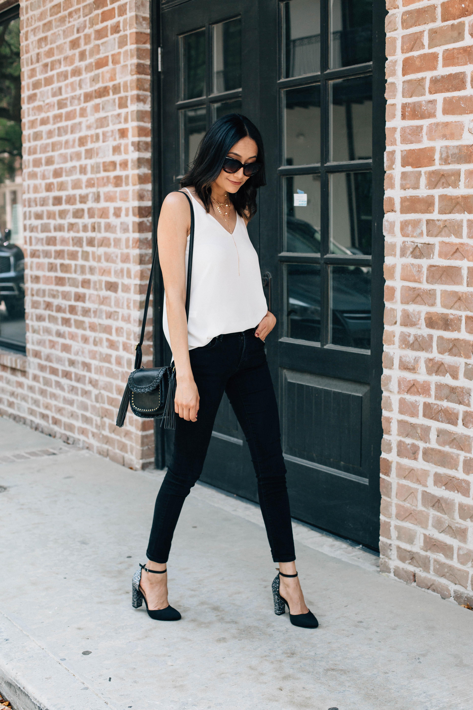 Must Have Wardrobe Staple | Silk Cami | Black Skinny Jeans