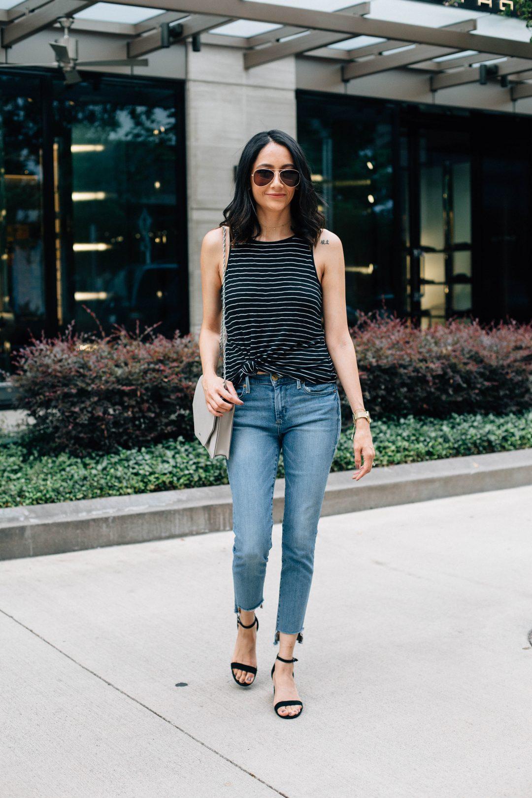 Best fashion DIY. Raw hem jeans. Weekend outfit