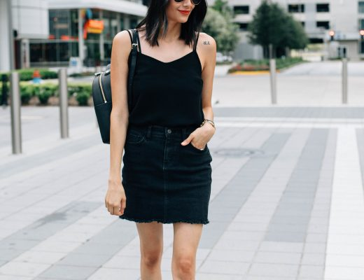 How to wear a newsboys hat   Military Style In black denim skirt, suede fringe slides & Henri Bendel military patches backpack