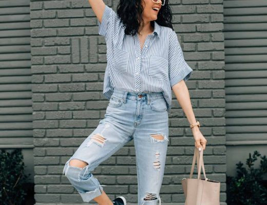 Houston Based Fashion Blogger | Lilly Beltran | Nike hightop sneakers & high waisted Jeans