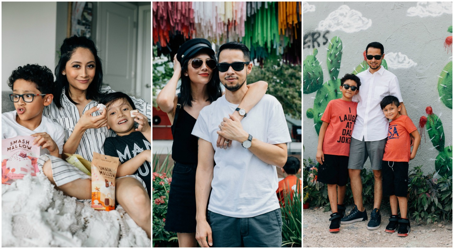 Lifestyle blogger Lilly Beltran from Daily Craving with her family