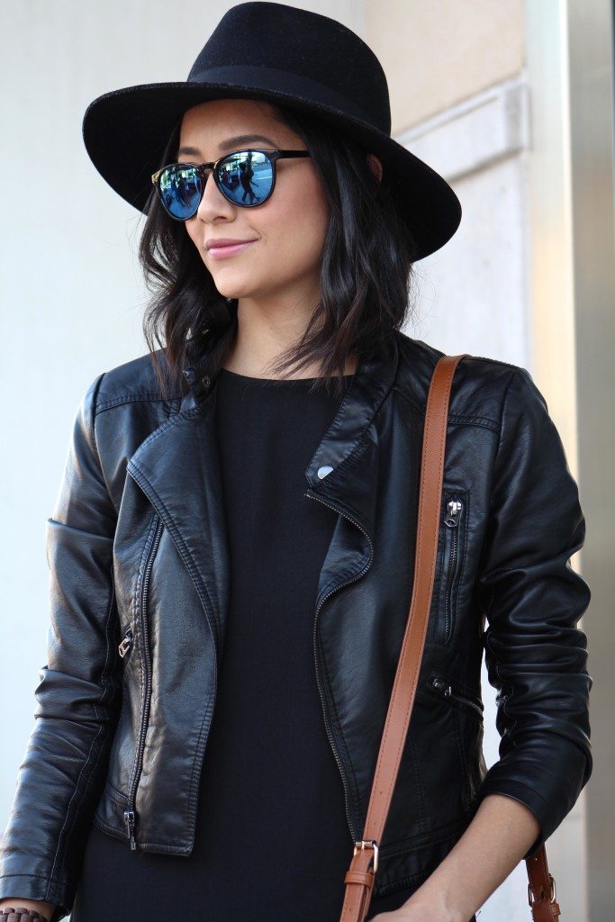Leather Jacket & Wool Fedora