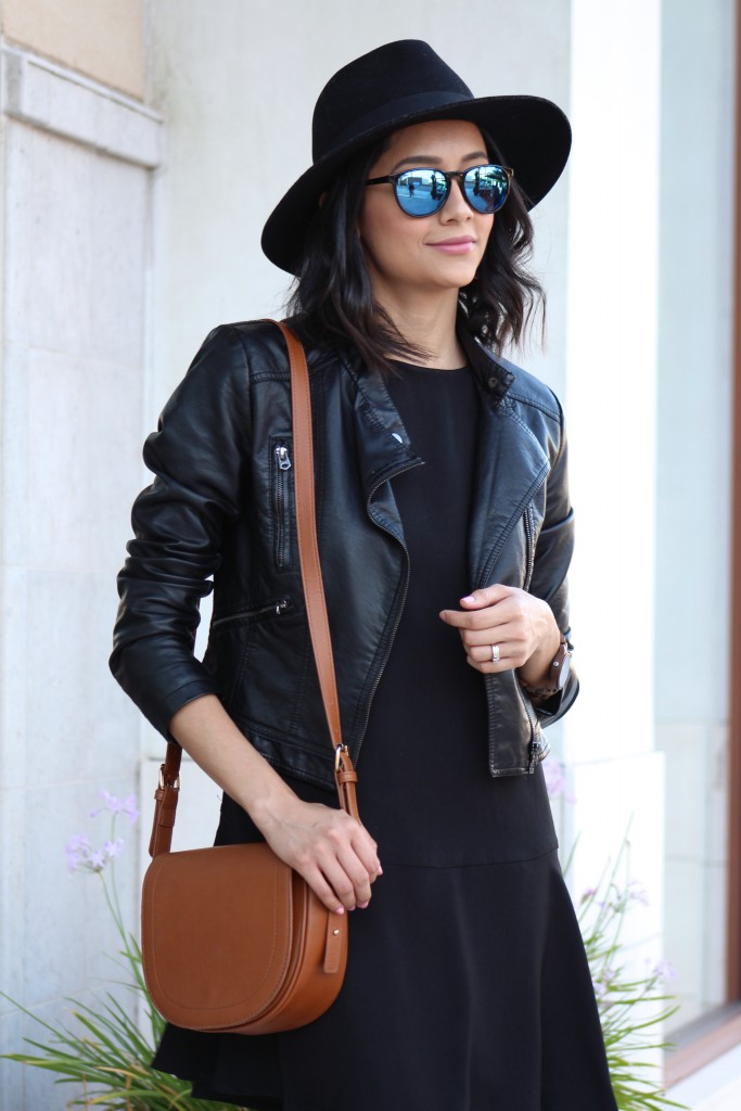 Leather Jacket & Wool Fedora Perfect for Fall