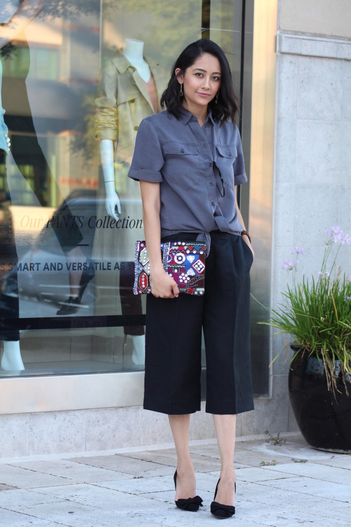 how to wear the culottes trend this fall