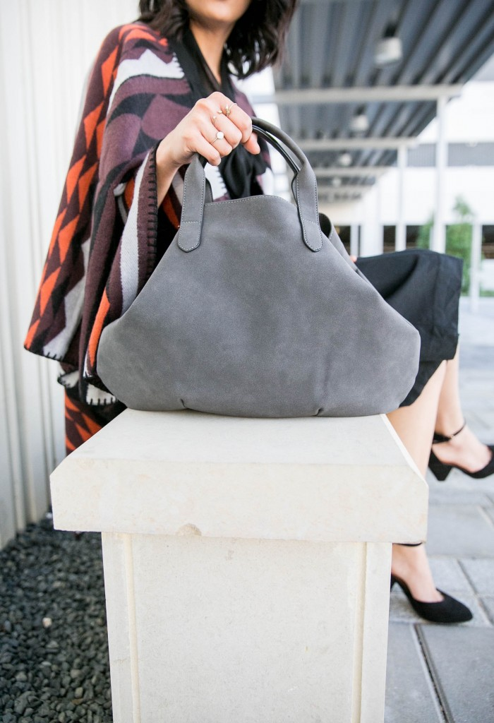 Faux suede old navy bag