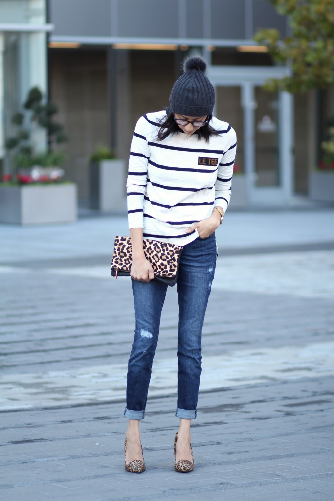 How to wear leopard print and stripes