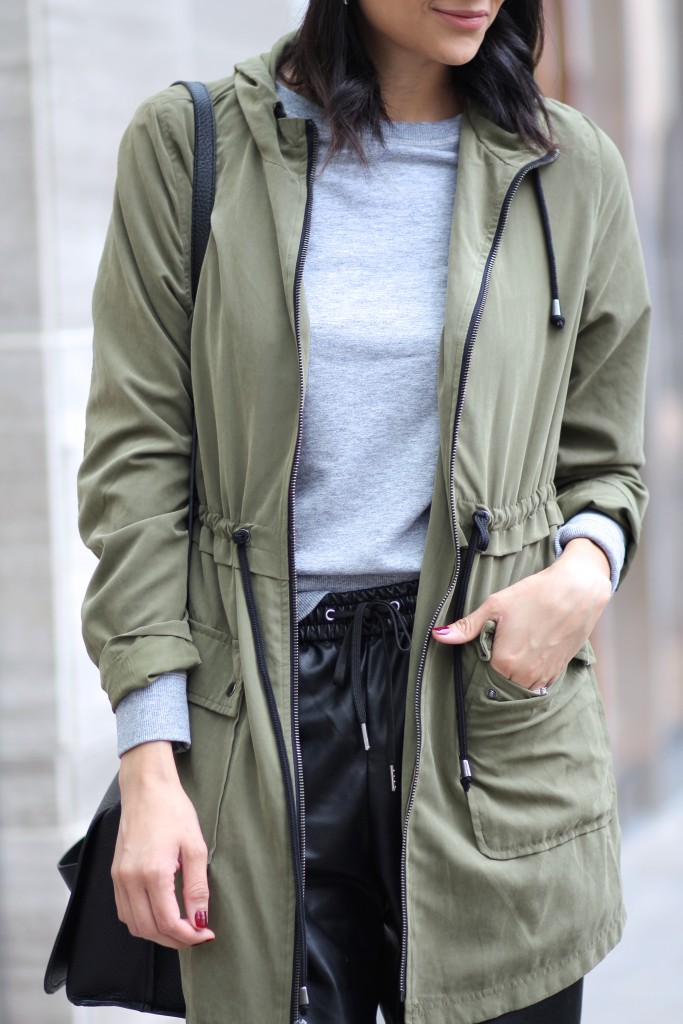 how to layer an army parka jacket